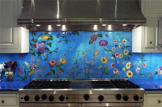 Как украсить своими руками плитку на кухне 34
