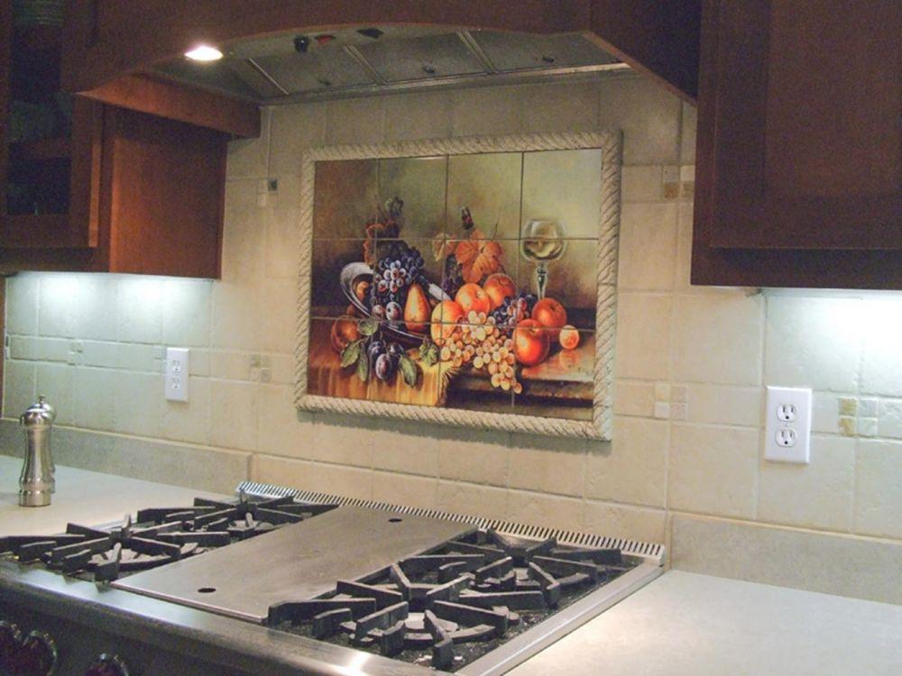 плитка для кухни на фартук панно классике